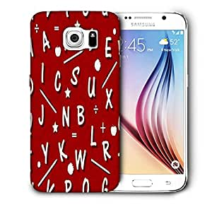 Snoogg White Alphabets Red Printed Protective Phone Back Case Cover For Samsung Galaxy S6 / S IIIIII
