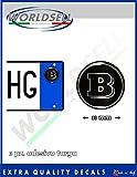 ADESIVI stickers bollini targa plate MERCEDES SMART BRABUS, New !!