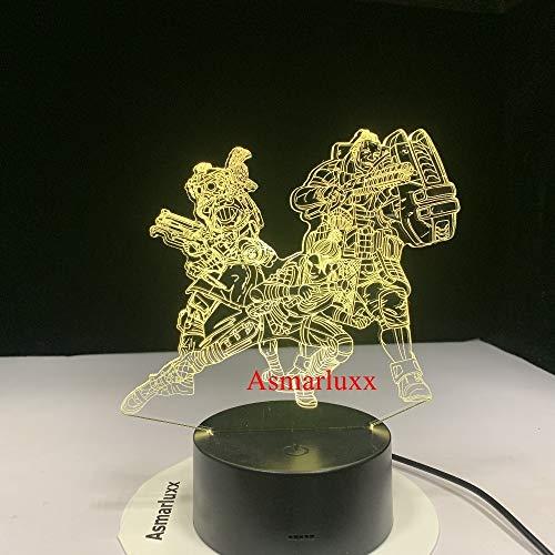 Apex Legend 3D Led Lampe Veränderbar Stimmung Lampe Led 7 Farben Usb Decor Illusion Tischlampe Für Zuhause Dekorative Als Spiel Spielzeug Geschenk
