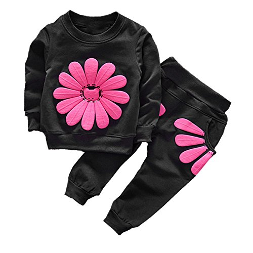 Puseky Baby Girls Sunflower sudadera manga larga +
