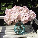 iDealhere Hortensia artificial con hojas, decoración de boda o fiesta