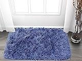 #5: Cloth Fusion Super Soft Shaggy Door mat (40x60 cm)- Blue