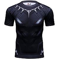 Cody Lundin Hombres Compresión Deporte Elástico Camiseta Ajuste del Músculo Capas Base Running Manga Corta 3D Impresión Camisa