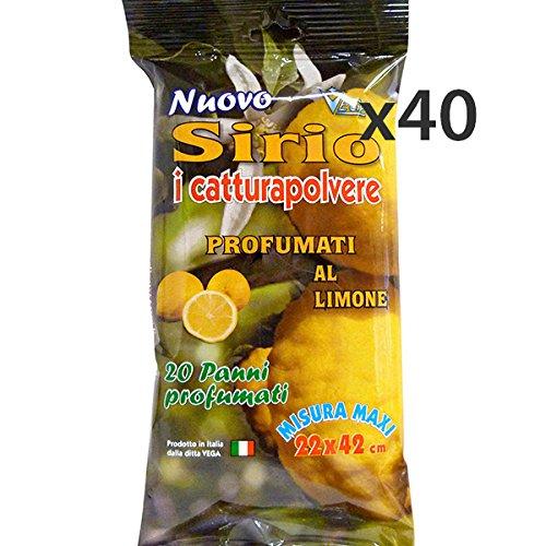Set 40 SIRIO Panni Polvere Limone * 20 Pezzi Attrezzi Pulizie