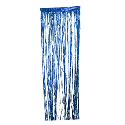 Blesiya Lametta Fadenvorhang für Hochzeit Dekoration - Blau