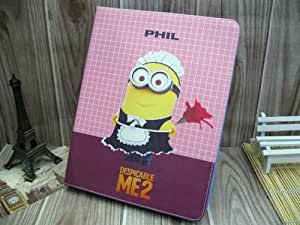 """Despicable Me Minion (Both the front and the same picture) Cute Synthetic Leather Case + Soft TPU Cover Skin For Apple Ipad Mini 7.9 inch (Package includes: 1X Stylus Pen image""""catgift_store"""")-G"""