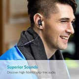 Bluetooth Headphones, Anker bluetooth Earphones, Bluetooth 4.1 Magnetic Wireless Stereo Soundbuds with Slim Lightweight, Waterproof Sport Headset with Mic, works with iPhone, iPad, Samsung, Nexus, HTC, Echo, and More