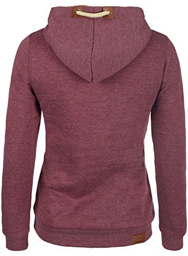 DESIRES VICKY-PILE Hood - sweat à capuche - Femme Wine Red Melange (8985)