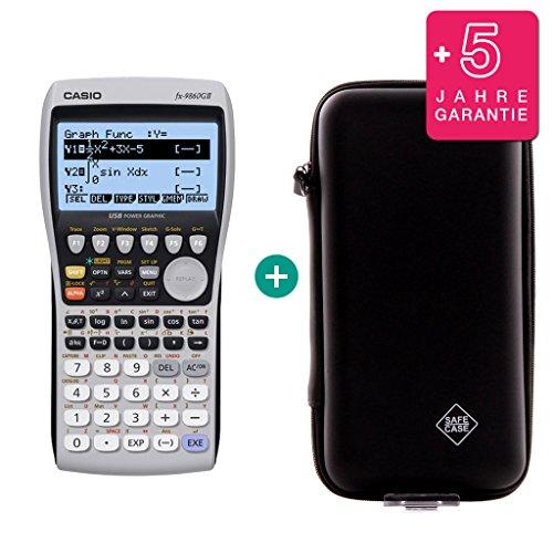 Casio FX 9860 GII + Erweiterte Garantie + Schutztasche (Taschenrechner Grafik Casio)