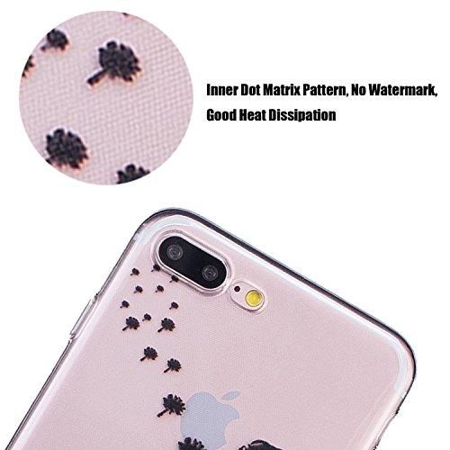 tinxi®Höhequalität Schutzhülle für Apple iPhone 7 Plus 5,5 Zoll Hülle Rutschfest Shock Proof Rück Schale Cover Case Schutz aus PC RückSchale mit silikon Rand sowie Innenschale Schwarz(sofort lieferbar junge Frau in schwarz