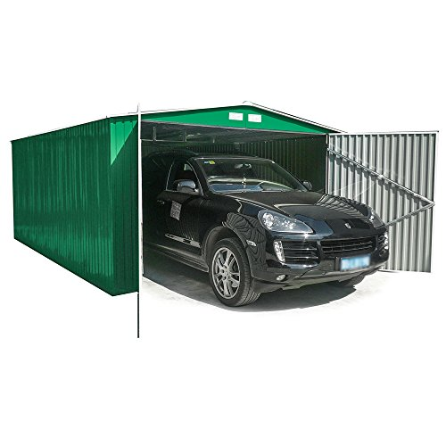 Newsbenessere.com 51NG1KwBkLL Box Casetta Garage in lamiera zincata giardino esterno 380x480xh232cm GARAGE XL
