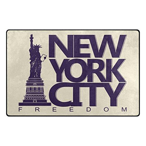 Benni giry Americana Estatua de la Libertad New York City Rango Alfombra antideslizante Diario de DF920felpudos para salón dormitorio 152,4x 202cm