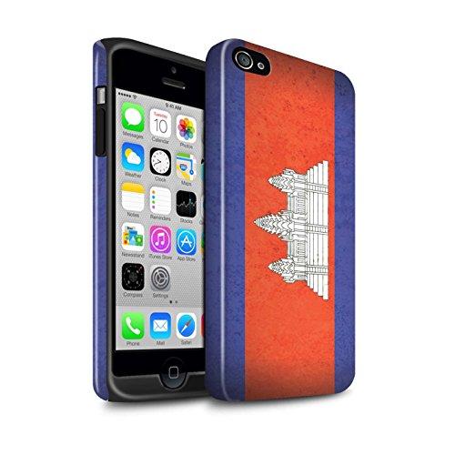STUFF4 Glanz Harten Stoßfest Hülle / Case für Apple iPhone 8 Plus / Kuwait Muster / Asien Flagge Kollektion Kambodscha