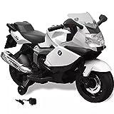 SENLUOWX BMW 283 Elektrisches Motorrad für Kinder Weiß 6V Kinderfahrzeug 106,8 x 50 x 65,7 cm