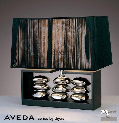 aveda-ceramic-wood-table-lamp-1-light-black-chrome-with-black-silk-string-shade