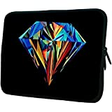 """Snoogg Abstract Diamond Art 15"""" 15.5"""" 15.6"""" Inch Laptop Notebook Slipcase Sleeve Soft Case Carrying Case For MacBook Pro Acer Asus Dell Hp Sony Toshiba"""