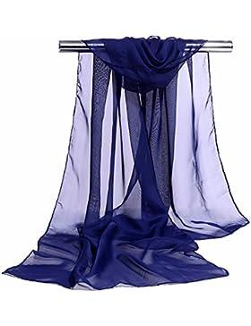 JUNGEN Pañuelo de Seda Elegante Suave Larga Bufanda Estola Chal Delgada del Mantón de Gasa Para Mujeres de el...