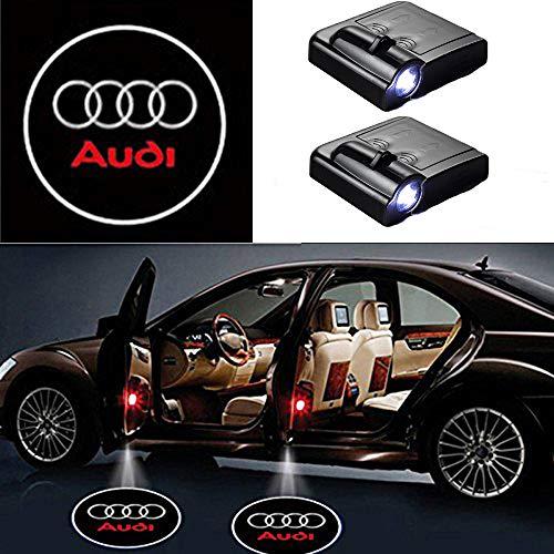 MIVISO Drahtlose Autotür führte Willkommen Laser Projektor Logo Licht Geist Schatten Lampe Logos 2 Stück