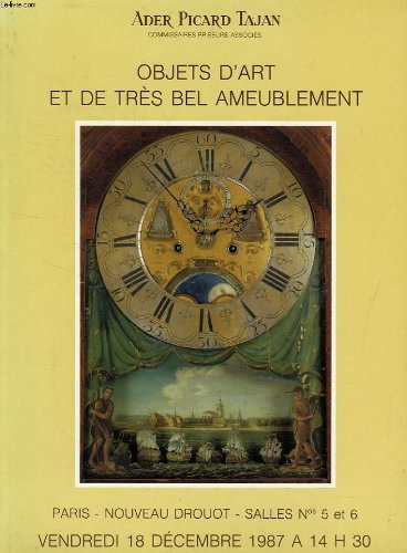 SCULPTURES, PORCELAINES, OBJETS D'ART ET DE TRES BEL AMEUBLEMENT, PRINCIPALEMENT DU XVIIIe SIECLE (CATALOGUE) par COLLECTIF