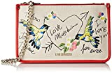 Love Moschino Damen Clutch, Beige (Natural Canvas), 1x17x28 cm
