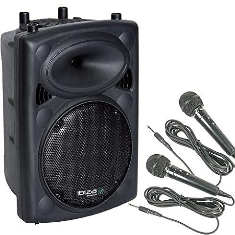 Baffle actif 400W PA haut-parleur bluetooth amplificateur basse USB 2x micro DJ-Active 3