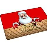 AAA226 - Tappetino antiscivolo con motivo natalizio, dimensioni: 40 cm x 60 cm, utilizzabile come tappetino per la cucina, per il bagno e come zerbino, Poliestere, 4#, 15.75' x 23.62'