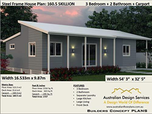 3 Bedroom House Plan - 3 Bedroom 2 Bathroom 2 Car: Concept ...