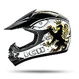 ATO-Moto BO7 Kinder Helm Schwarz Größe Y-XL (55-56cm) Kinder Crosshelm mit aktueller Sicherheitsnorm ECE 2205