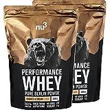 nu3 Performance Whey Protein | Cookies & Cream Blend | 2kg Proteinpulver | Voller Kekse-Geschmack | Eiweißpulver mit guter Löslichkeit bei hohem Proteingehalt
