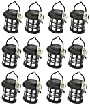 12 x Garden Solar Power Hanging Light LED Outdoor Lighting Black Tree Ornament - A Great Addition For Your Garden.