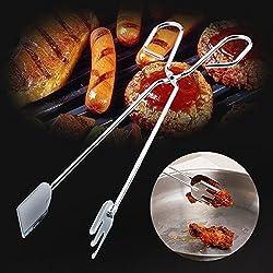 Möbel täglichen Bedarfs WWYXHQC 6337 Edelstahl klammern Grill Fleisch vom Grill Zange langes Essen clip carbon Werkzeug Feuer Zange bbq Ordner