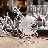 Lantelme Cognac Glas Whiskykaraffe Weltkugel Karaffe eingravierter Weltkarte Whisky Wein Likör Caraffe 4964 - 2