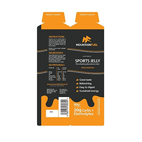 51NGBiyBXvL. SS500  - Mountain Fuel Orange Sports Jelly with Electrolytes (6 Pack)