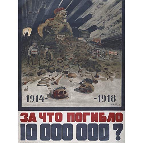 USSR Why 10 Million Men Killed WWI Propaganda Advert Large Print Poster Wall Art Decor Picture Werbung Wand Deko Bild -