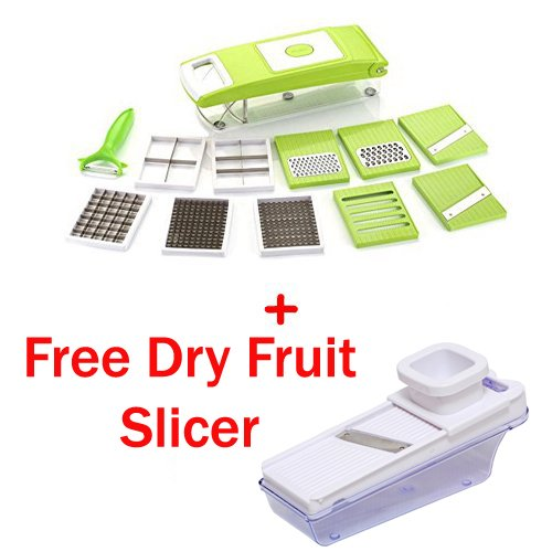 Famous 11 in 1 Chopper ,Vegetable Slicer, Grater and Dicer + Free Dry Fruit Cutter + Free Delivery ( AZ5005+AZ5010)  available at amazon for Rs.575