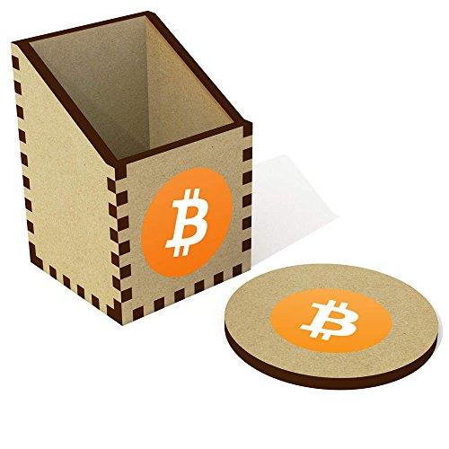 'Bitcoin Logo' Desk Tidy / Pencil Holder