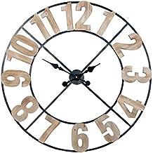 924f78fcbc9c Supernova Decoracion Reloj Pared Hierro madera 80cm  diam. 80cm