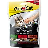 GimCat Nutri Pockets | Knuspersnack mit cremiger Füllung und funktionalen Inhaltsstoffen | ohne Zuckerzusatz | Malt-Vitamin Mix | 1 Beutel (1 x 150 g)
