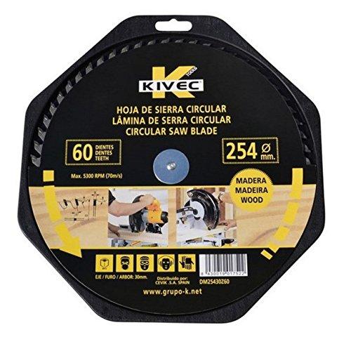 Kivec DM25430Z60 - Disco de wida diente alterno para madera y aglomerado...