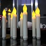 Specificazioni:  Materiale: Plastica candela di colore: bianco Alimentazione: a batteria (AA batterie non incluse)La confezione include: 12 x LED Taper Candles ❤A batteria senza bruciare, senza fuoco, fumo, cera calda, sicuro intorno ai bambi...