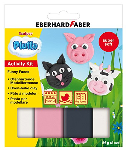 Eberhard Faber 571492 - Pluffy Activity Kit, Funny Faces Preisvergleich