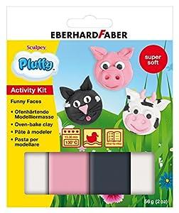 Eberhard Faber 571492 consumible para modelaje para niños - consumibles para modelaje para niños Negro, Rosa, Color Blanco