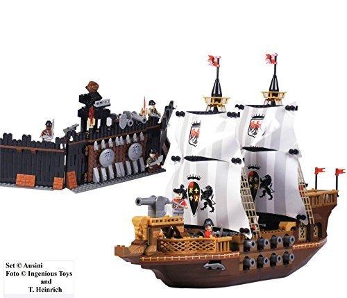 Royal ACORAZADO CON 17 Cañones y pirata Fortress - Compatible Bricks Construcción Set #27005