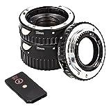 Anillos Intermedios Automáticos De 3 Piezas Para Macrofotografía Compatible Con Sony Alpha A57, A58, A65, A77, A99, A100, A200, A230, A290 (Bayoneta De Metal)