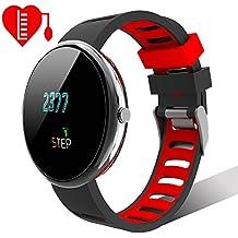 Smartwatch Multisport Fitness Uhr HR Fitness Tracker mit Touchscreen Aktivitäts-Tracker Herzfrequenz,Schrittzähler Sport Uhr Fitnessuhr Armbanduhr Withings Steel Uhrenarmband