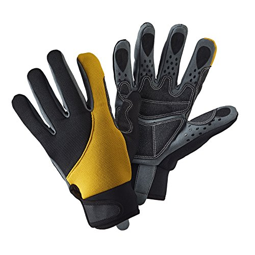 If you are looking for gloves that offer a remarkable grip, these Briers Advanced Grip and Protect Gloves are worth considering. They are very good for holding tools, thanks to silicon dots on fingertips combined with anti-slip patches on the palm.