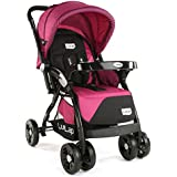 LuvLap Galaxy Baby Stroller and Pram (Pink/Black)