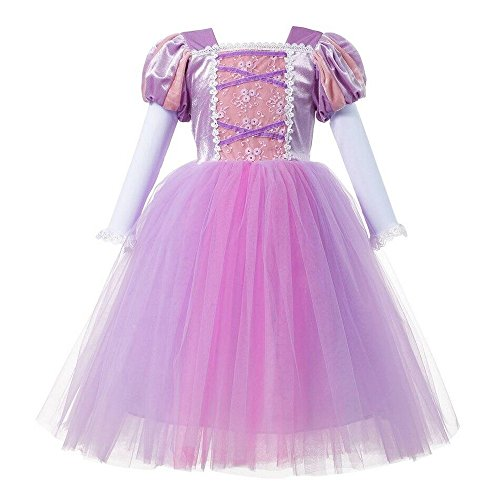 Girl 's Princess Rapunzel Party Deluxe Kostüm Verkleiden Pink
