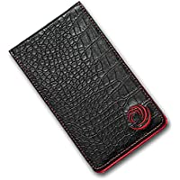 TickTockGolf - Soporte para tarjeta de puntuación de golf, de lujo, efecto de cuero con soporte para lápiz, gran regalo para golfistas., negro
