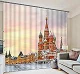 H&M Gardinen Vorhang EIN warmes Schatten Tuch Schlafzimmer Hauptdekoration Fenstervorhänge 3D-Druck fertig, Wide 2.20x high 1.80